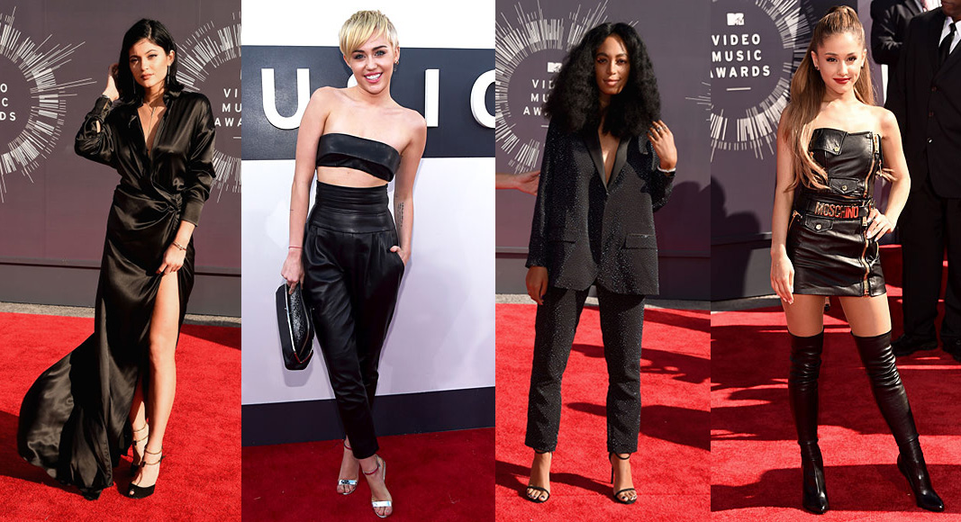 Kylie Jenner, Miley Cyrus, Solange Knowles and Ariana Grande 2014 VMAs Style